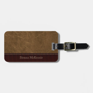 Light Brown Leather Look Bag Tag