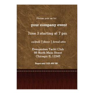 Light Brown leather look Card