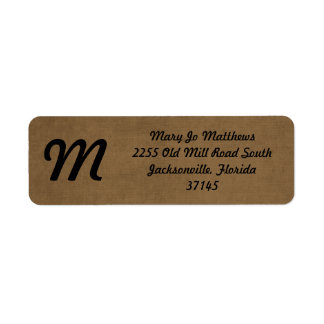 Light brown leather texture label