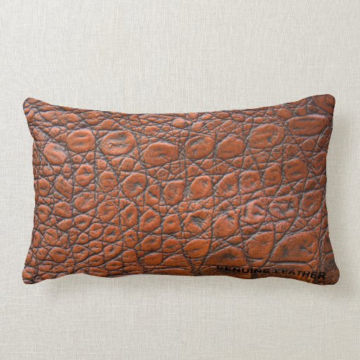 Light Brown Leather Throw Pillow Zazzle