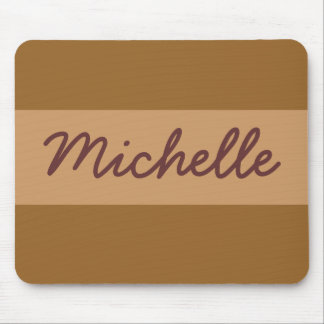 light brown mouse pad