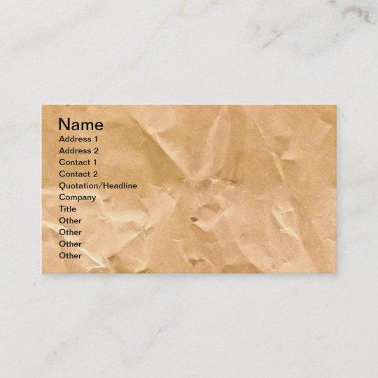 LIGHT BROWN PAPER BAG TEXTURE BACKGROUND WALLPAPER BUSINESS CARD