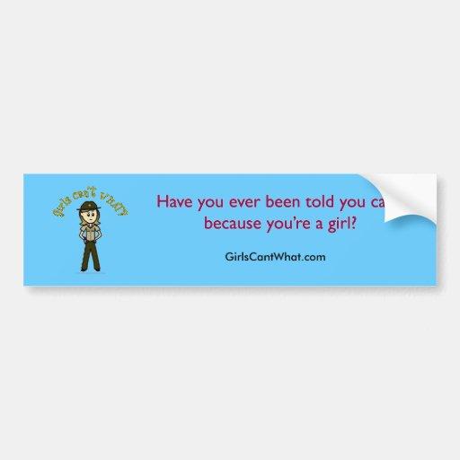 Light Brown Sheriff Girl Bumper Sticker