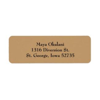 Light Brown Simple Plain Return Address Labels
