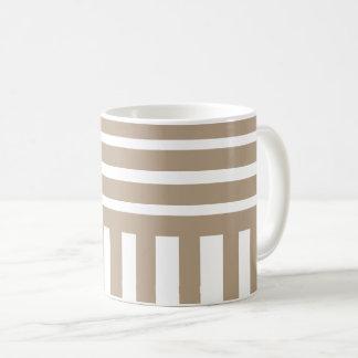 light brown stripes coffee mug