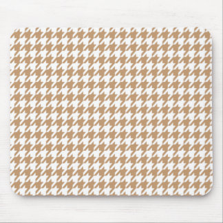 Light Brown, Tan Houndstooth Mouse Pad