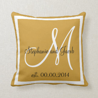 Light Brown Tan Wedding keepsake pillow
