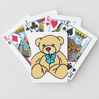 Light Brown Traditional Teddy Bear Bicycle Playing Cards
