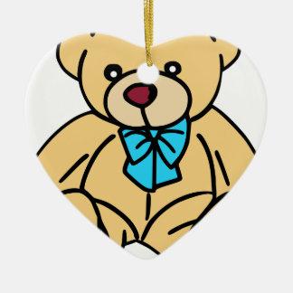Light Brown Traditional Teddy Bear Ceramic Ornament