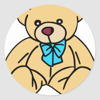 Light Brown Traditional Teddy Bear Classic Round Sticker