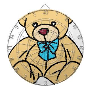 Light Brown Traditional Teddy Bear Dartboard With Darts