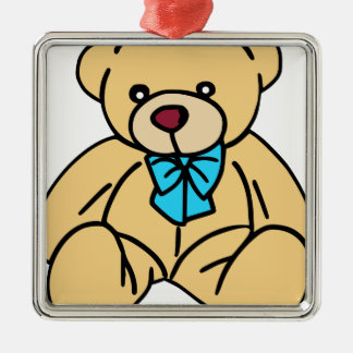 Light Brown Traditional Teddy Bear Metal Ornament