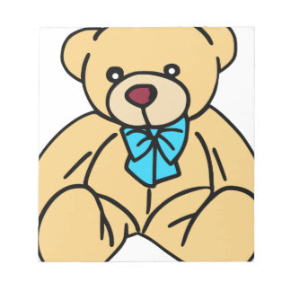 Light Brown Traditional Teddy Bear Note Pad