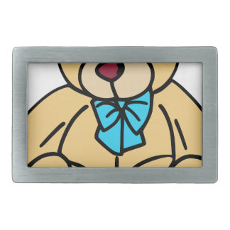 Light Brown Traditional Teddy Bear Rectangular Belt Buckle