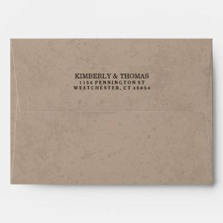 Light Brown & White Custom Invitation Envelope