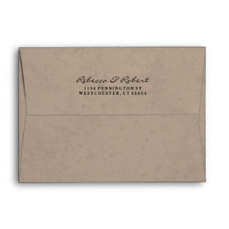 Light Brown & White Custom Invitation Envelope