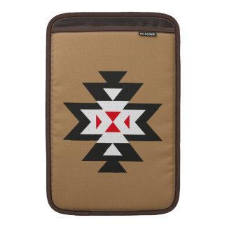 Light Brown White Red Aztec Navajo Pattern MacBook Sleeve