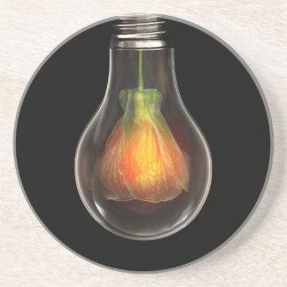 Light bulb artistic illustration coaster