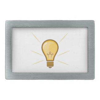 Light Bulb Rectangular Belt Buckle