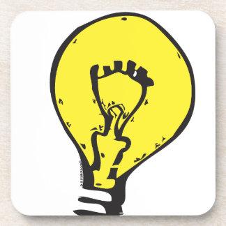 LIGHT BULB BRIGHT IDEA!! BEVERAGE COASTER