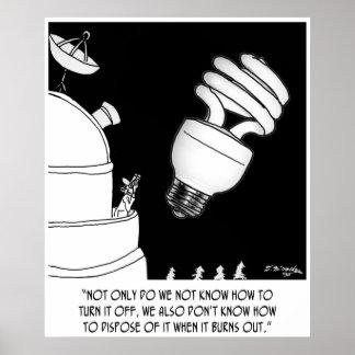 Light Bulb Cartoon 9505 Poster