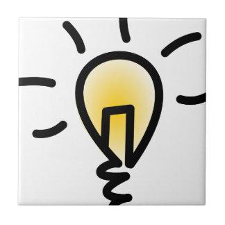 Light Bulb Ceramic Tile