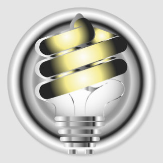 Light Bulb Classic Round Sticker