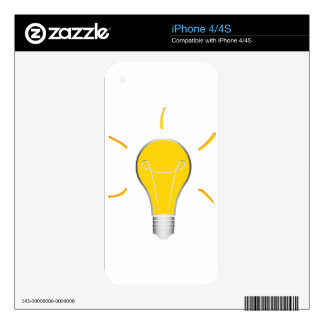 Light Bulb creative idea Decals For iPhone 4S