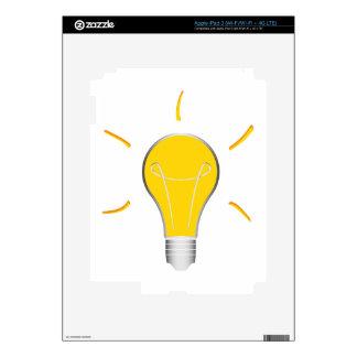 Light Bulb creative idea Skin For iPad 3