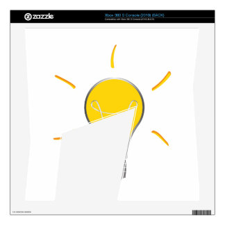 Light Bulb creative idea Xbox 360 S Skin