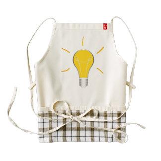 Light Bulb creative idea Zazzle HEART Apron