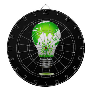 light bulb design with globe and plants ecology.pn dartboard