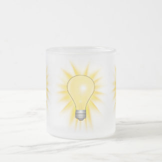 Light Bulb - Dim The Lights 10 Oz Frosted Glass Coffee Mug