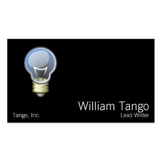 Light Bulb Double-Sided Standard Business Cards (Pack Of 100)