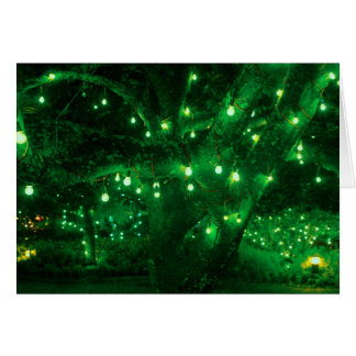 Light bulb garden greeting card
