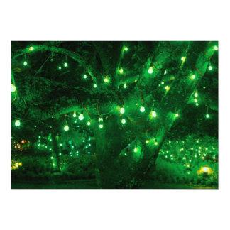 "Light bulb garden 5"" x 7"" invitation card"