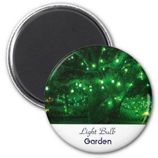Light bulb garden magnets