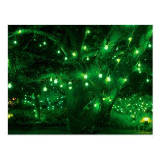 Light bulb garden postcard