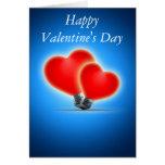 Light bulb hearts greeting card