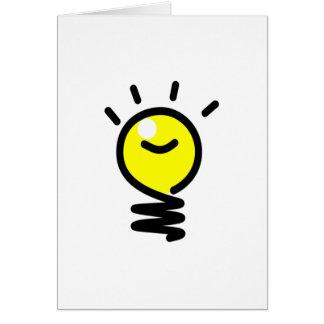 Light Bulb Idea Card