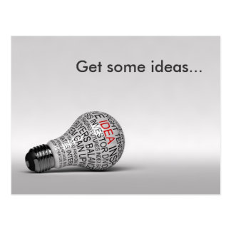 Light bulb idea postcard