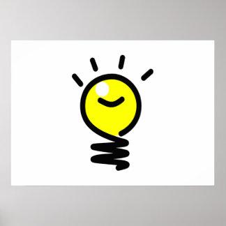 Light Bulb Idea Poster