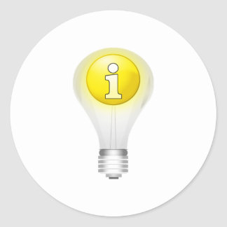 Light Bulb Idea Round Stickers