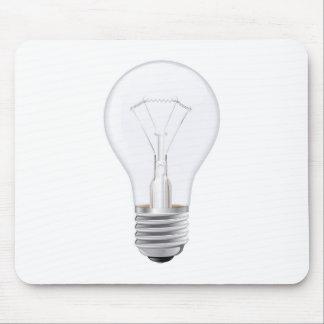 Light bulb illustration mouse pad