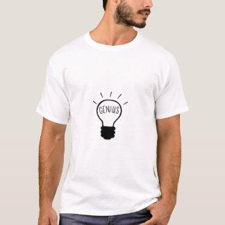 Light bulb in black and white T-Shirt