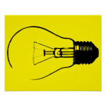 Light Bulb Lightbulb Graphic Art Poster Sign