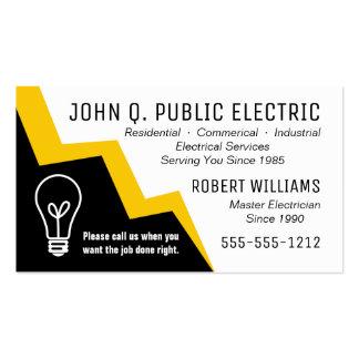Light Bulb Lightning Bolt Electrician Electrical Business Card