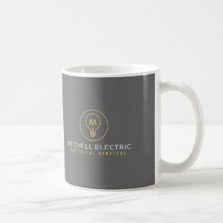 LIGHT BULB MONOGRAM LOGO for ELECTRICANS Coffee Mug