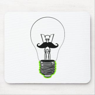 Light Bulb Moustache Mouse Pad