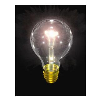 light bulb on blk 3 inch flare flyer